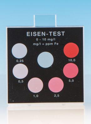 Eisen 0–1 mg/l - Farbvergleichsgerät Testoval