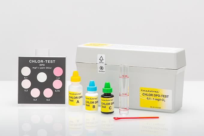 Testoval Chlor DPD 0,1 - 1 mg/l Testbesteck