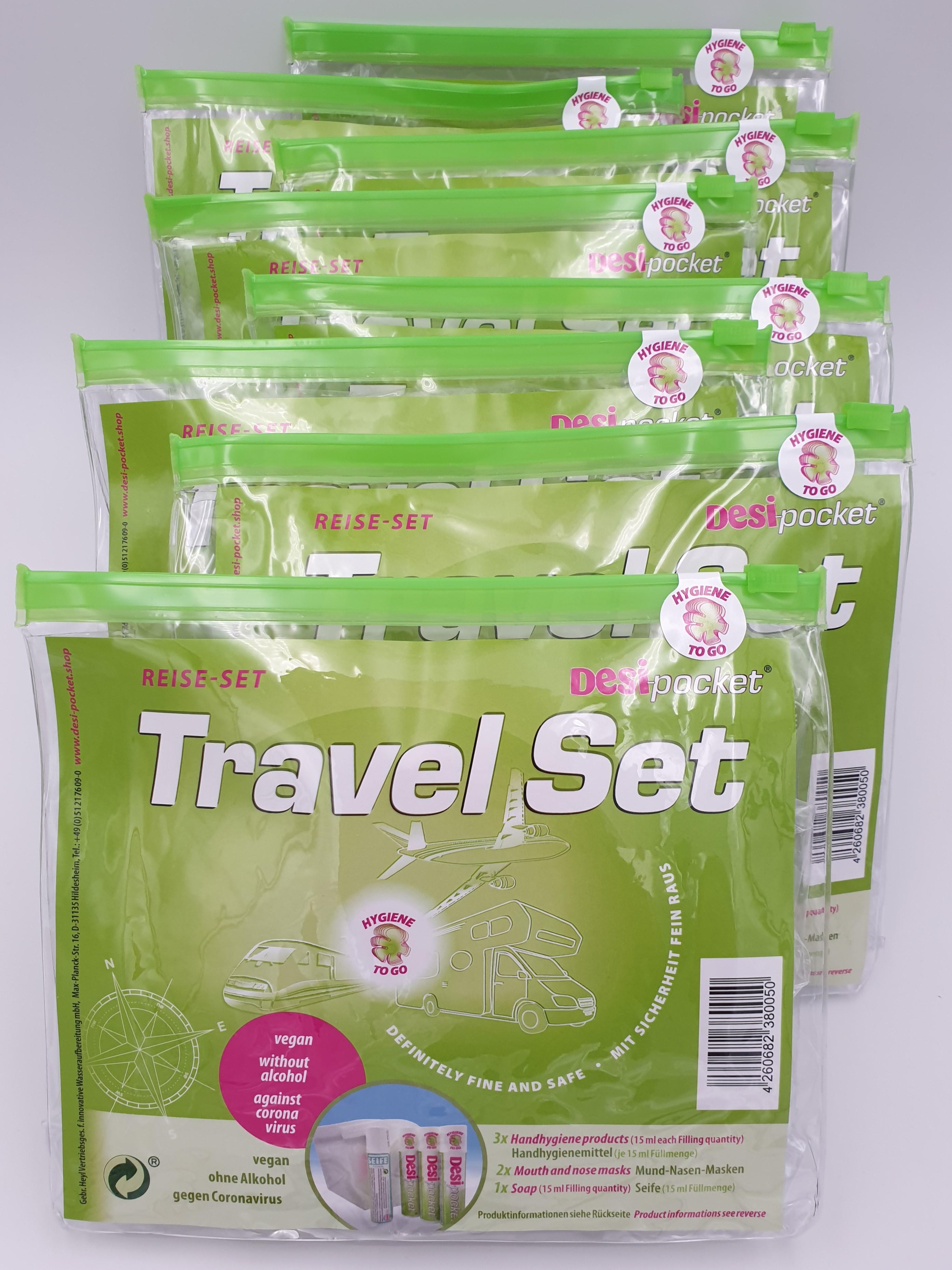 Desi-pocket Travel Set Kennenlern- Angebot - vegan - ohne Alkohol - gegen Coronavirus