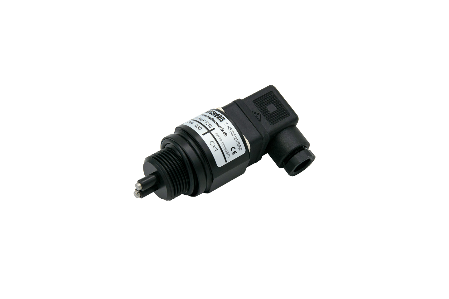 N-LF3410 conductivity measuring cell with PT100, screw-in cell and solenoid valve connector