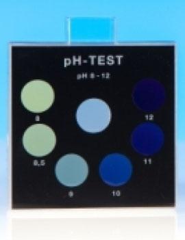 pH-Wert 8-12 - Farbvergleichsgerät Testoval