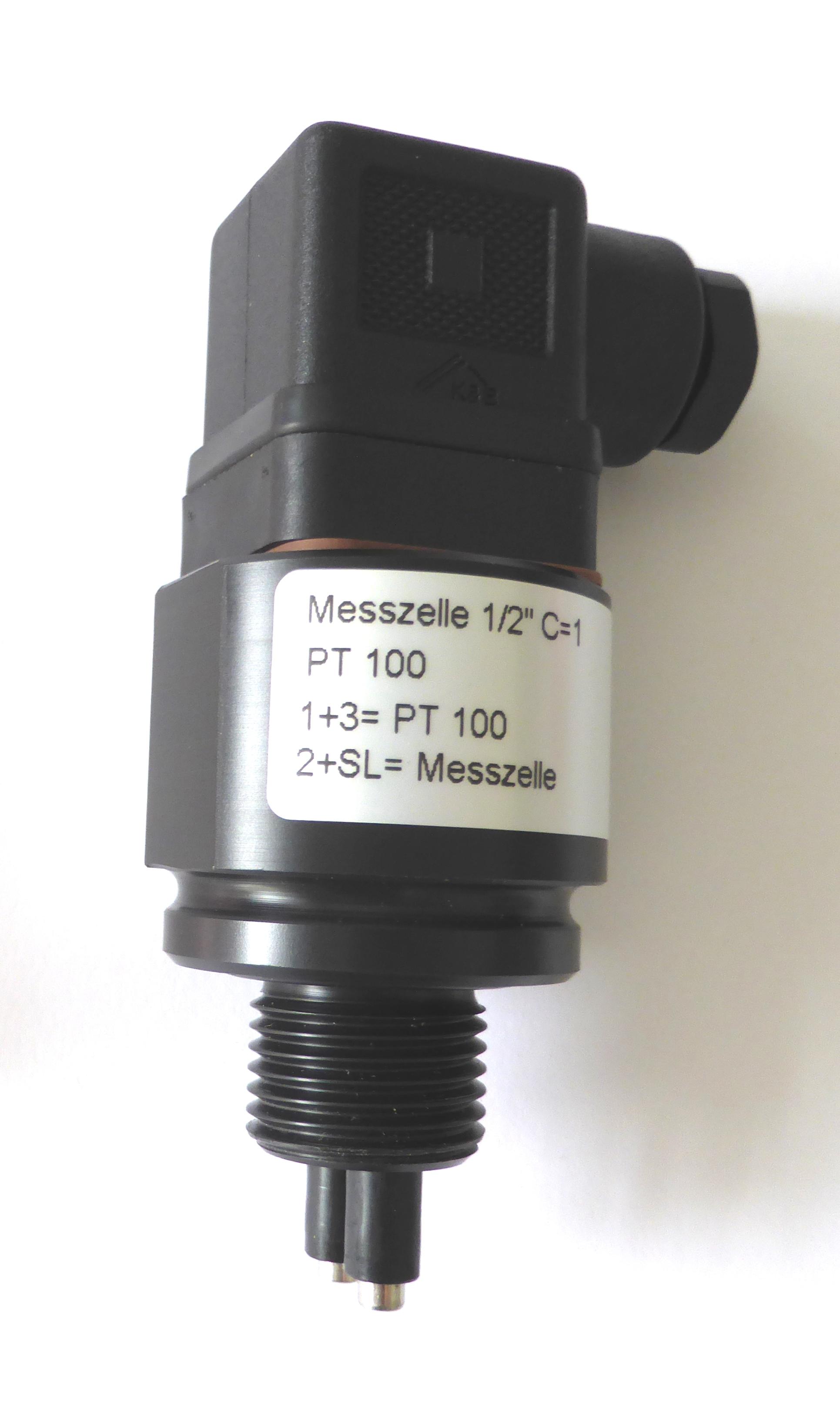 N-LF1210-Messzelle mit PT100, Einschraubgewinde und Magnetventilstecker