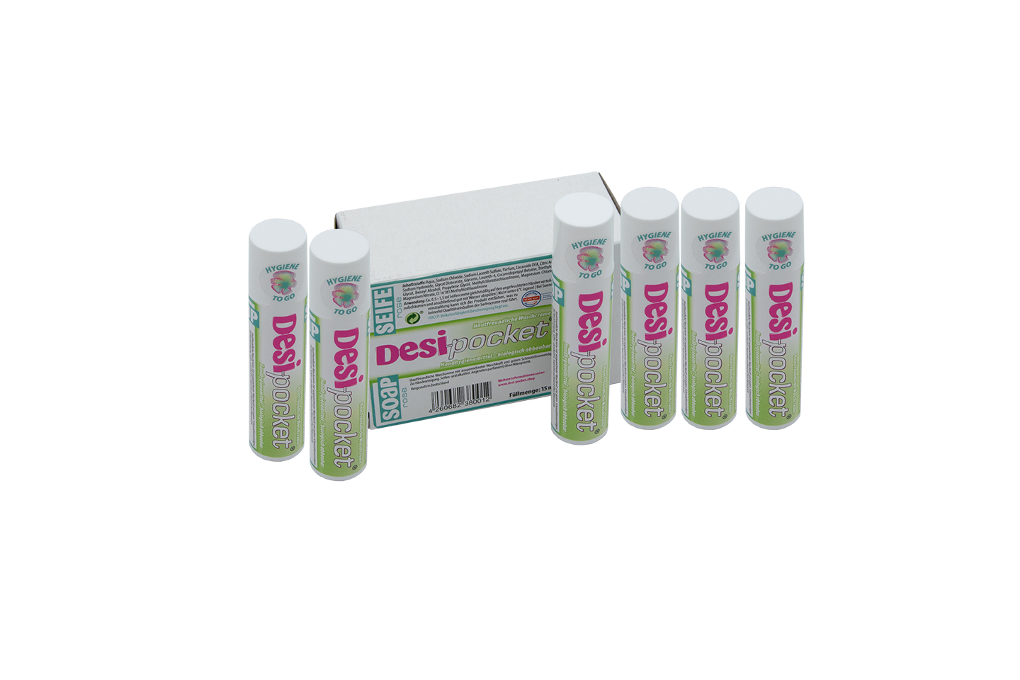 Desi-pocket Soap introduction package of 6 - washing cream - skin friendly