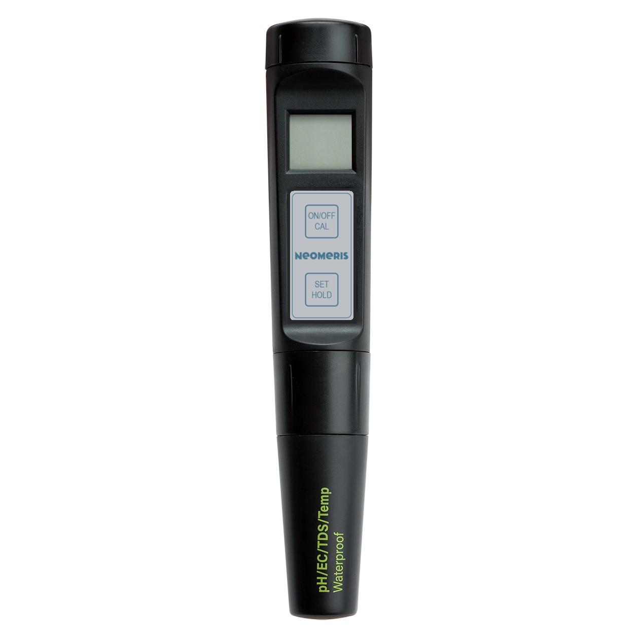 Neomeris pH/EC-High/TDS/Temp. Pocket-Tester mit wechselbarer kombinierter Sonde, IP65