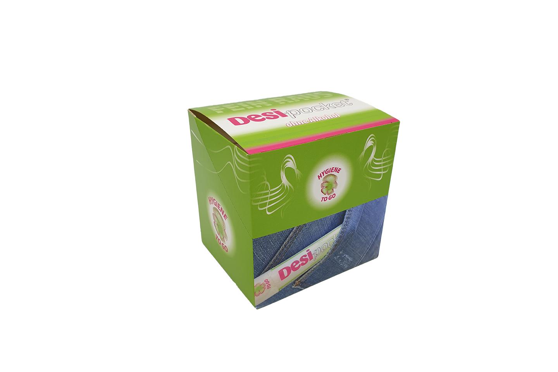 Desi-pocket  Händehygiene 20er Packung - Aufsteller - vegan - ohne Alkohol - gegen Coronavirus