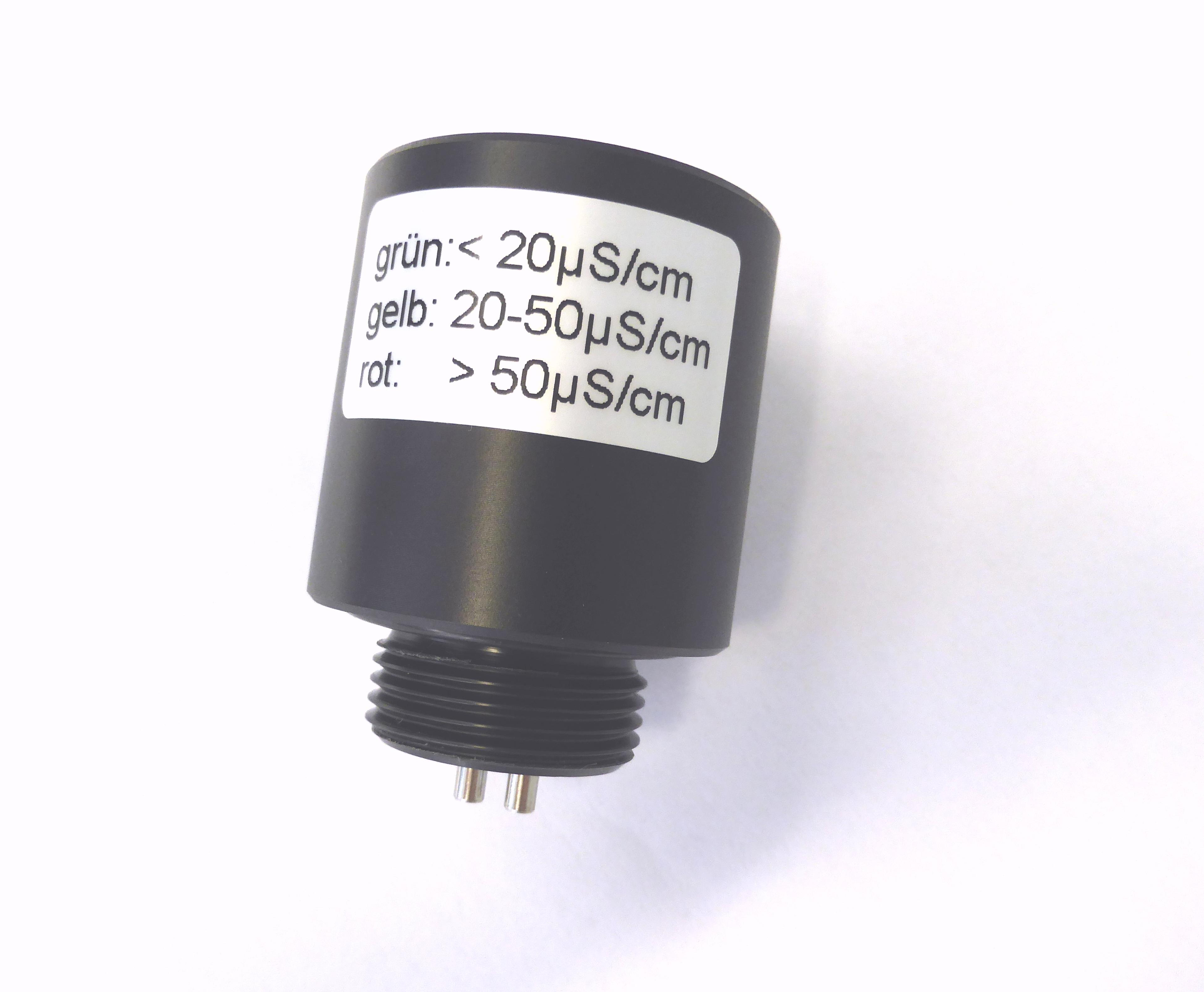 N-FLASH50, LFM 0-50 μS/cm mit 3 LEDs, Akku und integrierter Einschraubmesszelle