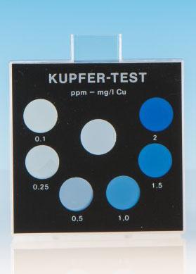 Kupfer - Farbvergleichsgerät Testoval