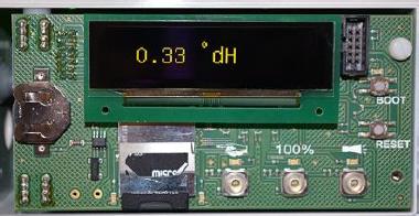 Testomat® LAB OLED display module for measured value visualization