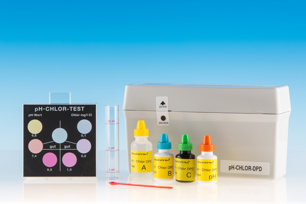 Testoval pH-Chlor DPD Testbesteck
