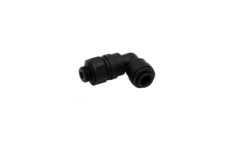"""Einschraubverbinder- Winkel, G 1/8""""- 6mm für Messkammer"""