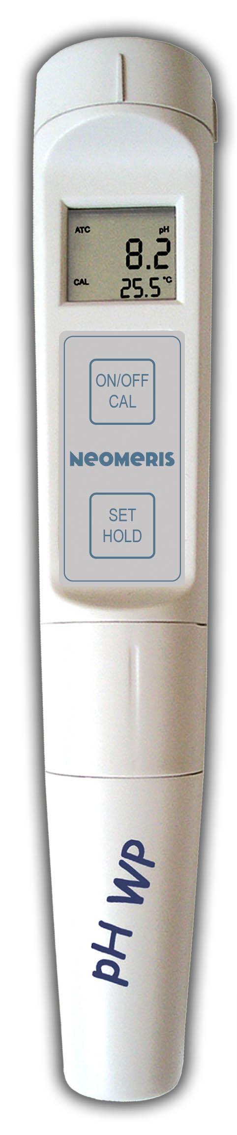 NEOMERIS pH/T Pocket-Tester mit wechselbarer Sonde, IP65